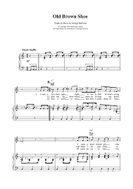brown shoe sheet for piano and more