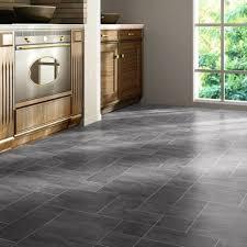 faus floor slate black 8mm tile effect laminate