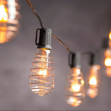 Edison Bulb Patio String Lights Vintage Lighting Indoor Outdoor Copper Finish Edison Bulb String