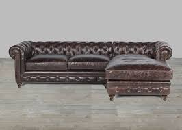 Roll Arm Chaise Leather Sofa With Chaise Rolled Arm