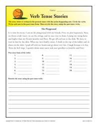 verb tense worksheets for 1st and 2nd grade