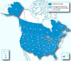 united states including alaska and hawaii blank map garmin nümaps onetime city navigator america nt