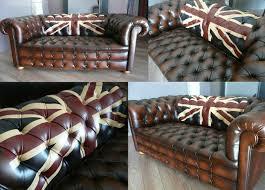 canapé cuir anglais chesterfield chesterfield union sur le dossier atelier ka