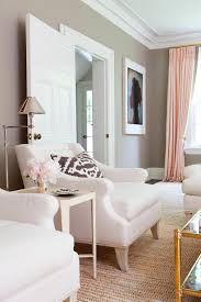 pink gold u0026 gray living room with white linen sofa pink curtains