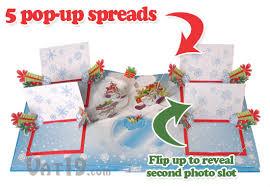 5 up photo album pop up christmas photo album