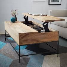 Storage Living Room Tables Coffee Table Converts To Desk Smart Furniture