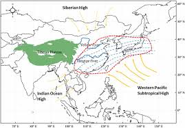Monsoon Asia Map High Carbon Dioxide Uptake By Subtropical Forest Ecosystems In The