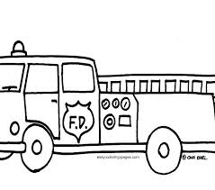 free colouring pages coloring fire truck concept picture