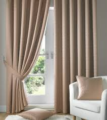 Coloured Curtains Latte Low Cost Top Ready Made Curtains