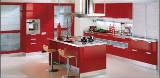 Kitchen Island Red Kitchen Awesome Kitchen Minimalist Modern Red Kitchen Model In