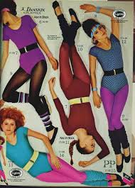 80 s headbands 80s workout fashion catalogue leotards leg warmers big belts