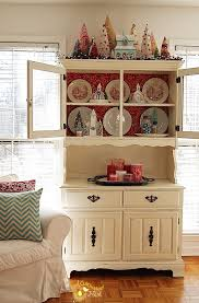 Cute Cabinet Christmas China Cabinet Decorating