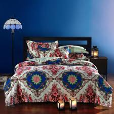 Cheap Duvet Sets Wholesale Moroccan Ethnic Style Cotton Bedding Set Queen Size