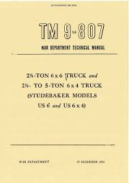 studebaker paperprint wwii military vehicle manuals