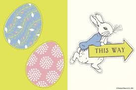 pretty easter egg hunt peter rabbit printables