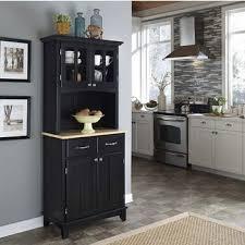 Black Buffet Server by Wood Buffet Servers U0026 Hutches With Open Shelf U0026 Cabinet Style