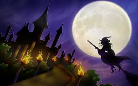 halloween background with purple spooky throwback