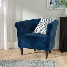 blue living room chairs blue accent chairs you ll love wayfair