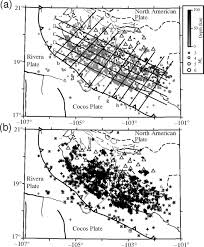 geometry of the rivera u2013cocos subduction zone inferred from local
