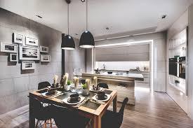 interior design of a kitchen modern luxury meets space saving design in this condominium unit