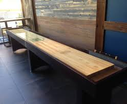 How Long Is A Shuffleboard Table by Use Shuffleboard As The Basis For A New Pub Gamemcclure Tables