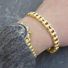 bracelet chain gold man images Solid chain men 39 s 18 k gold plated bracelet by otis jaxon silver jpg
