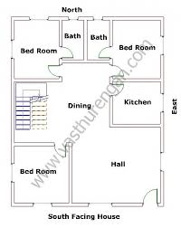 south facing houses vastu plan 3 vasthurengan com