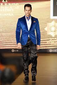 buy man u0027s designer royal blue jacquard velvet tuxedo jacket by