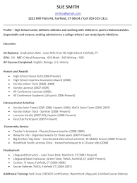 Scholarship Resume Template Resume Template For High Graduate 9 Example Resumes Sample