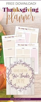 thanksgiving planner printable applecart