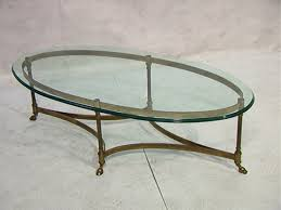 brass and glass end tables oval brass and glass coffee table