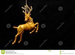 Deer Decorations For Christmas by Christmas Ornament Silver Reindeer Stock Photo Image 44420