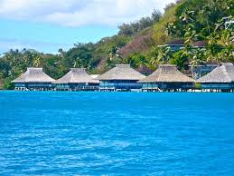 bora bora island overwater bungalows and water villa resorts