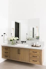 modern mountain home tour master wing floating vanity studio