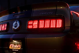 mustang led tail lights 2005 2009 mustang cervinis led tail light conversion kit ford