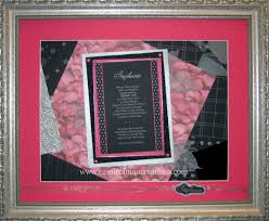 silver matching services this modern pink silver and black batmitzvah invitation is