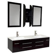 Dual Vanity Sink Fresca Bath Fvn6119uns Bellezza Double Vanity Sink Espresso