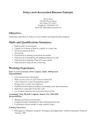 accounting resumes exles entry level accounting resume objective exles also sles sle
