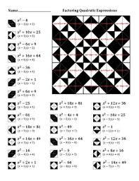factoring quadratic expressions color worksheet 3 classroom do