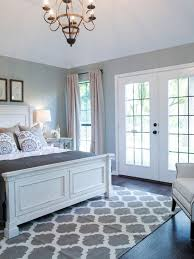 bedroom decor ideas traditional style with white grey and blue