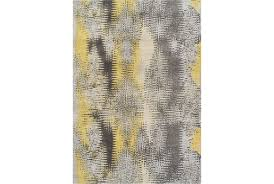 Ingenious Yellow Rug 63x91 Royce Living Spaces Rugs Inspiration