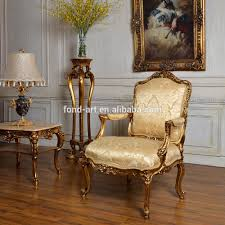 Bedroom Sofa C59 Antique Gold Classic Bedroom And Living Room Single Sofa Chair