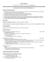 Best Accountant Resume by Entry Level Accountant Resume Berathen Com