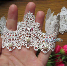 pearl lace 1 yd vintage embroidered pearl lace edge trim wedding ribbon
