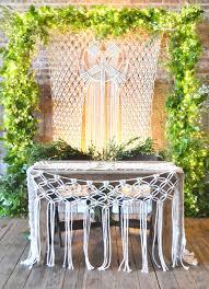macrame wedding decor for a boho wedding by amy zwikel studio