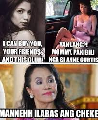 Napoles Meme - anne curtis i can buy you your friends and this bar