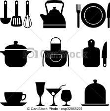kitchen icon nine kitchen icons set of nine vector icons of kitchen eps