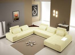 White Leather Sectional Sofa With Chaise Modern Off White Leather Sectional Sofa