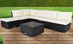 Outdoor Rattan Corner Sofa Poly Rattan Corner Sofa Set Groupon