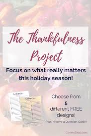 the thankfulness project lessons and learning for littles